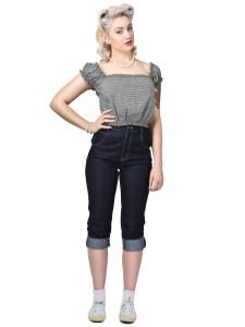 Monroe Cropped Jeans Blue
