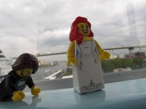 Our Lego figurines mid-Ferris Wheel ride. We were shit-scared, and any photos of us show the pure panic we were in...So you guys get the Lego version.